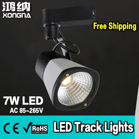 Free Shipping 7W COB Commercial LED Track Lights 100~110lm/W CE & RoHS ce emc saa rohs gs ul listed commercial 100w commercial led pendant lights