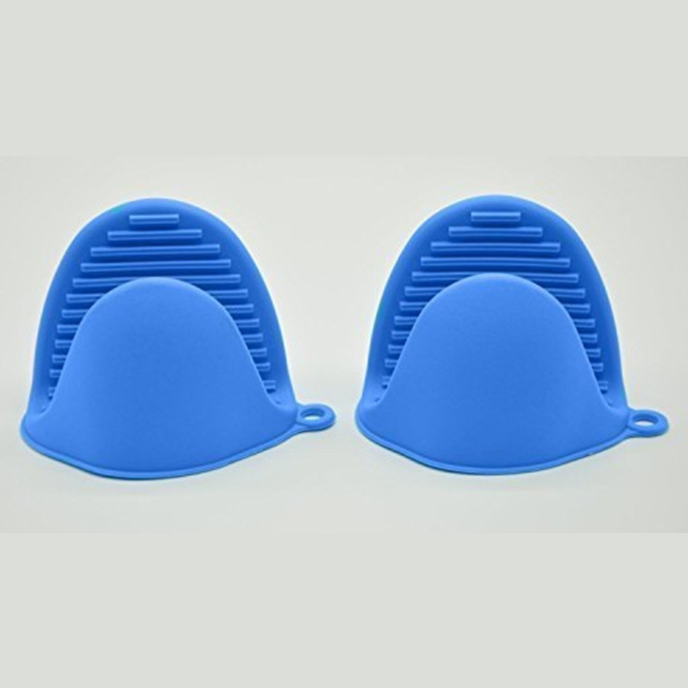 Kitchen Dishes Silicone Oven Heat Insulated Finger Glove Mitt Protector Hot Mat Pad Coaster Placemat