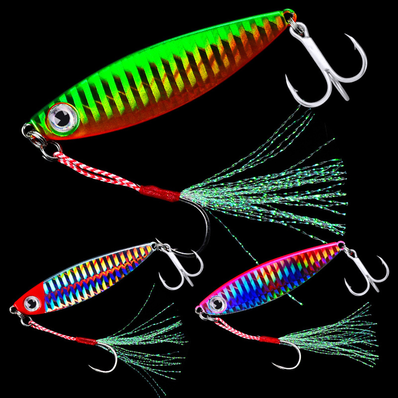 HOT 7/10/15/20/30g Fishing Spoon Spinner Bait Metal Lure Tuna Lures Glow In The Dark Fishing Tackle Lead Minnow Jigging Pesca 30