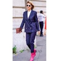 Брючные костюмы, деловой костюм для деловой женщины, брючные костюмы для женщин, форменная куртка + штаны.