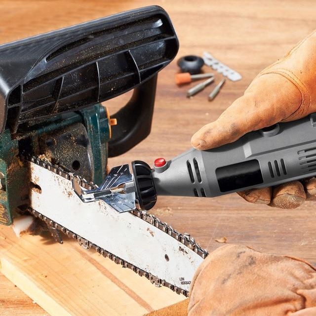 Kit de afilado de motosierra, amoladora eléctrica, juego de accesorios de pulido, herramienta de cadenas CLH @ 8