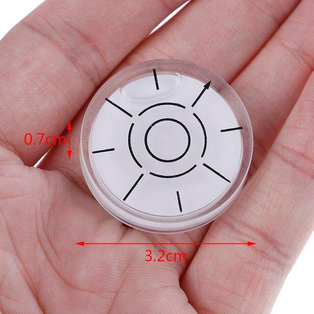 Medidor de medición Circular de 32x7mm, 1 Uds., Burbuja, nivel de superficie