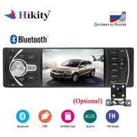 Hikity 4022D 1Din Autoradio 4.1 Inch Bluetooth Stereo Car Radio Car Vedio audio MP3 FM Remote Control Support Rear View Camera