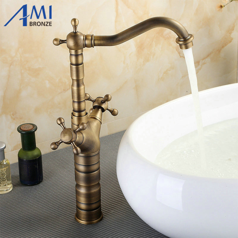 brass bathroom sink 15 quot antique brass kitchen swivel faucets sink bathroom 12159