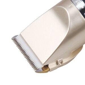 Image 4 - 110 240V מקצועי שיער גוזם לגברים בארבר חשמלי חותך מכסחת מכונת גילוח נטענת שיער קליפר שיער מכונת חיתוך האיחוד האירופי