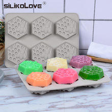 SILIKOLOVE Silicone Mold Bee Soap mold 6 cavity easy to Demolding Handmade Craft For Diy Maker Provide Customizable