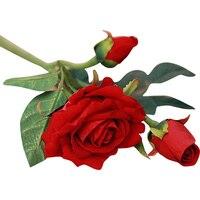 5pcs Real Latex Touch Rose Flowers For Wedding Bouquet Decor Decorative Artificial Flowers U6629
