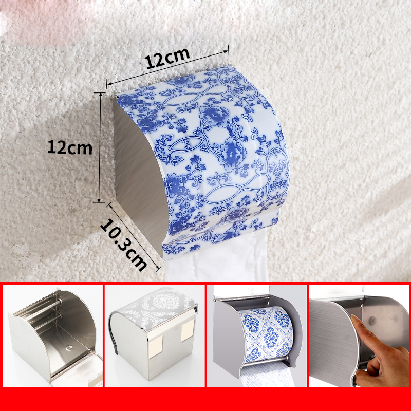 Bathroom Stainless Steel Waterproof Wc For Toilet Paper Holder Tissue Paper Holder Of Paper Towels Porta Papel Toilet Paper Box 2016 newest verto toilet paper holder bathroom abs surface double tissue accessories quality wc soap holder can hold phone z3