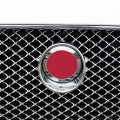 7.2/8.6cm Animal Badge Round ABS Chrome Emblem Grille Hood Refitting Car Styling Logo Sticker for Jaguar XF XJL Black Red