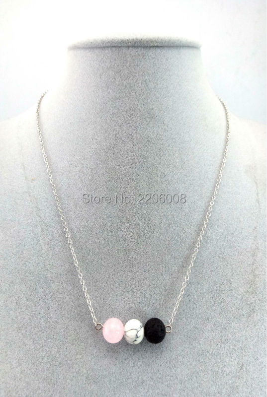 3 colors Wholesale Natural Stone necklace With Lava Rock necklace Of Stretch Buddha & Yoga necklace Women Men
