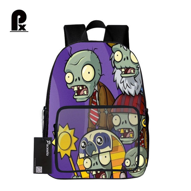 student schoolbag hot game plants vs zombie print backpack for teenager boys and girls orthopedic cartoon - Zombie Pictures To Print