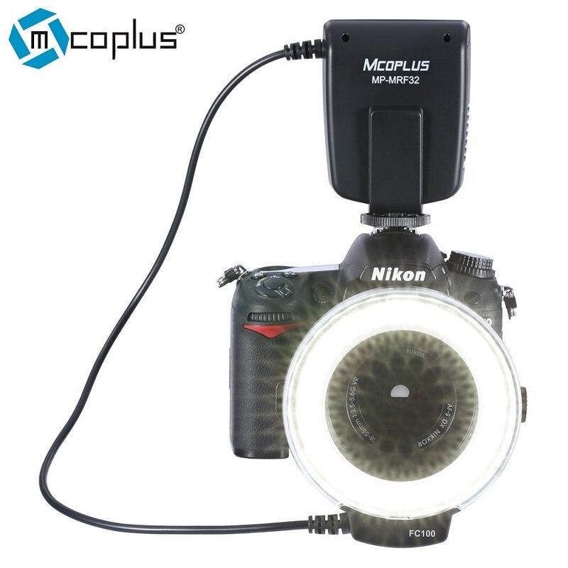 Prix pour Mcoplus MP-MRF32 Macro Ring Flash Light pour Nikon D7100 D7000 D5200 D5100 D3200 D3100 D3000 D800 D600 D90 D80 comme FC-100