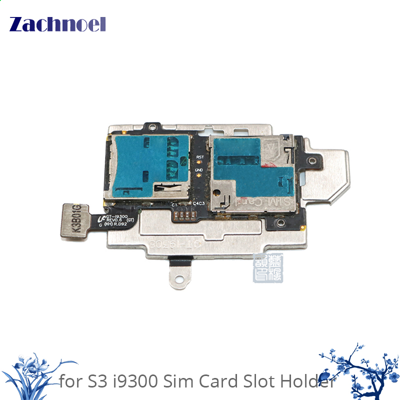 10pcs High Quality Phone Parts SIM Card and Memory SD Card Contact Holder Flex Cable for Samsung Galaxy S3 S III i9300 GT-I9300