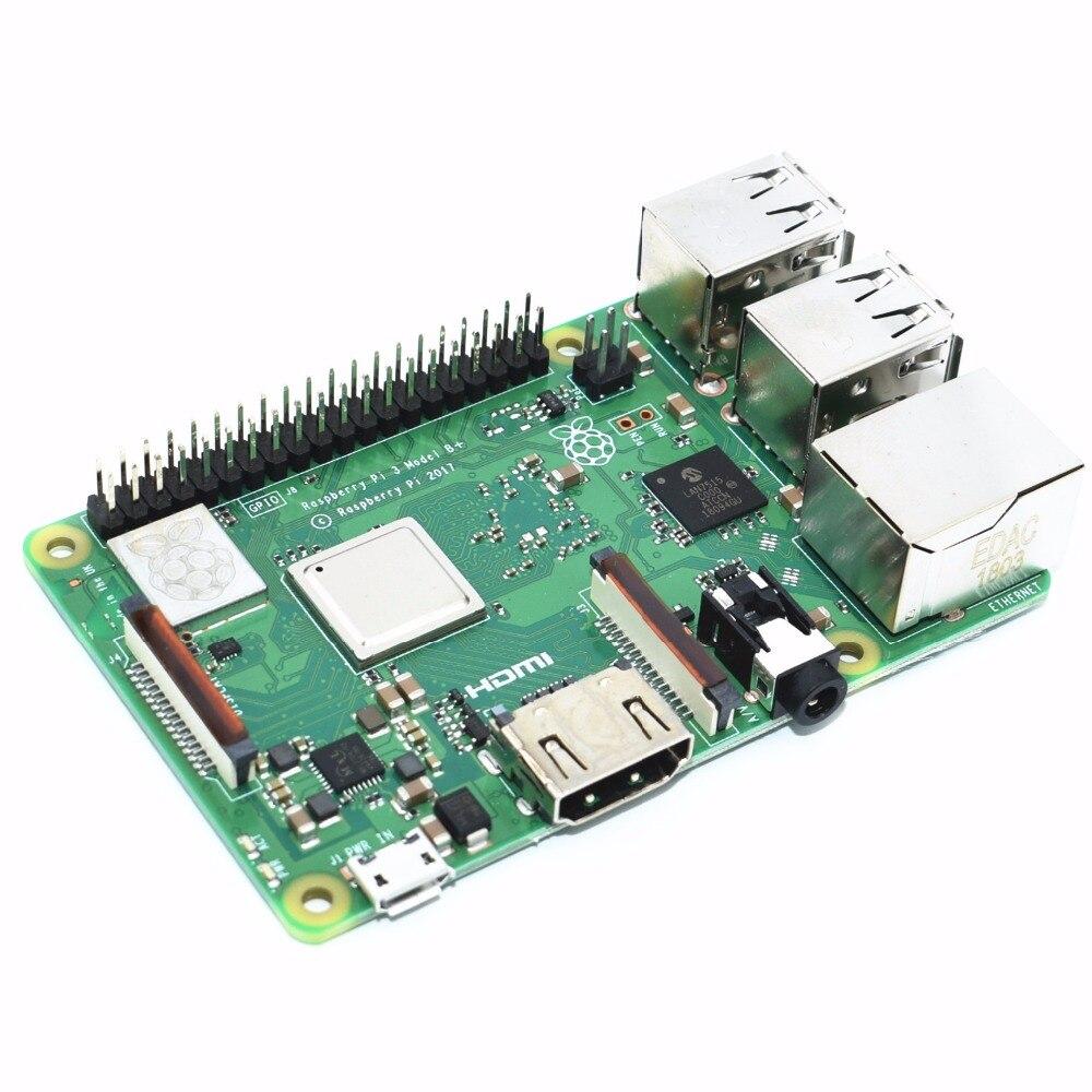 2018 новый оригинальный Raspberry Pi 3 Модель B + (штекер) Встроенный Broadcom 1,4 ГГц четырехъядерный 64 бит процессор Wifi Bluetooth и USB порт