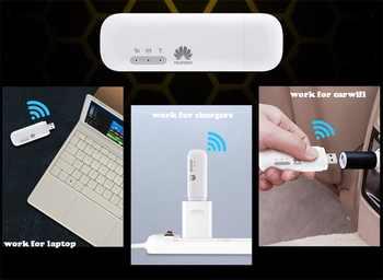 Unlocked New Huawei E8372 150Mbps Modem E8372-153 Huawei 4G Wifi router 4G LTE Wifi Modem LTE +2PCS ANTENNA