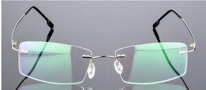 Image 4 - Eyesilove מוגמר אופנה נשים גברים קלים במיוחד משקפיים קוצר ראיה ללא שפה משקפיים קצרי רואי שאינו בורג ללא מסגרת משקפיים קוצר ראיה