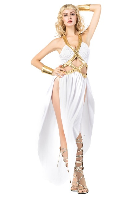 Cosplay Ancient Greece Goddess Athena Costume Clothing Adult Women White  Dress Halloween Costumes New Arrival 56c66c2368ef