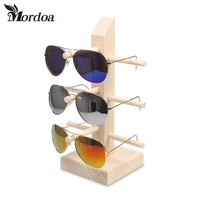 2017 High Quality Wood Sunglass Display Stand Necklace Hanging Rack Bracelet Showing Props Earring Showcase Jewelry