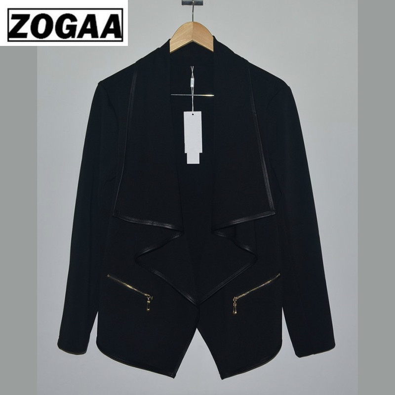 2019 Women Spring Fashion Office Ladies Blazer Female Solid Shawl Neck Long Sleeve Slim Suit Jacket Casual Elegant Jacket ZOGAA
