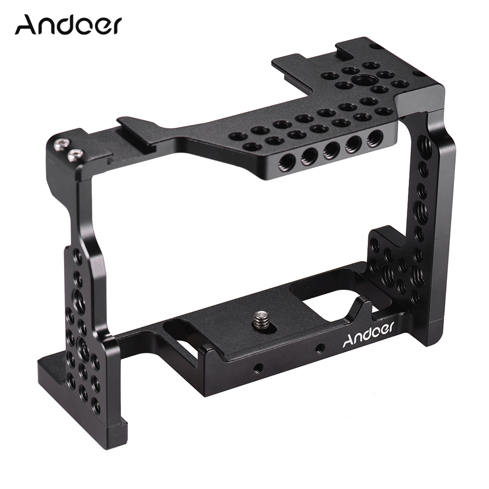 Video Film Movie Making Stabilizer Aluminum Alloy 1 4 Screw Camera Cage for Sony A7II A7III