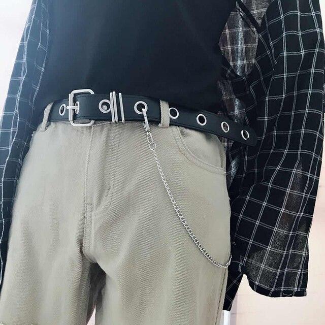 עור מפוצל לרתום חגורות כסף פין אבזם מתכת חגורת חום נשים פנאי ג 'ינס שרשרת גבירותיי חדש קעור צורת חגורה שחור