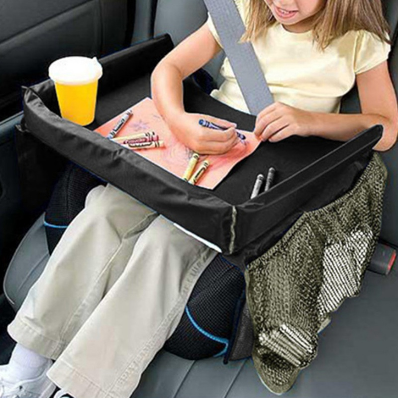30x40cm Car Seat Slit Pocket Storage Glove Box Organizer Slot Box For Child Snack Water Drink Car Seat Tray Storage ...
