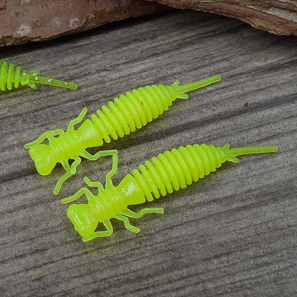 Dragonfly Larvae Soft Lures Fishing Artificial Lure Silicone Bass Pike 10 Pcs