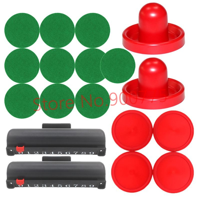 Super Air Hockey Kit 2 Felt Pushes+4 Puckers+10 Extra Stickers+2 Score box for Adult Air hockey table indoor Game