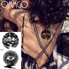 OMMGO Black Eye Totem Temporary Tattoos Sticker For Women Small Geometric Galaxy Moon Forest Tattoo For Girls Kids Baby Tatoos(China)
