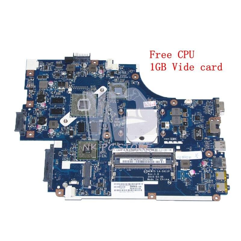 NOKOTION MBWVF02001 MB. WVF02.001 Pour Acer aspire 5551 5551G 5552G Ordinateur Portable Carte Mère LA-5911P Socket s1 HD5000 1 GB DDR3 Livraison CPU