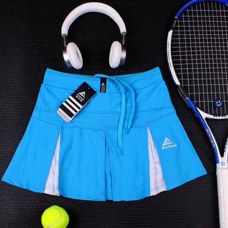 Sport pół długość tenis spódnica lato szybkoschnący Lady Split biały Plus rozmiar cienkie Fitness joga Slim do biegania skort