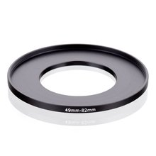 original RISE(UK) 49mm 82mm 49 82mm 49 to 82 Step Up Ring Filter Adapter black