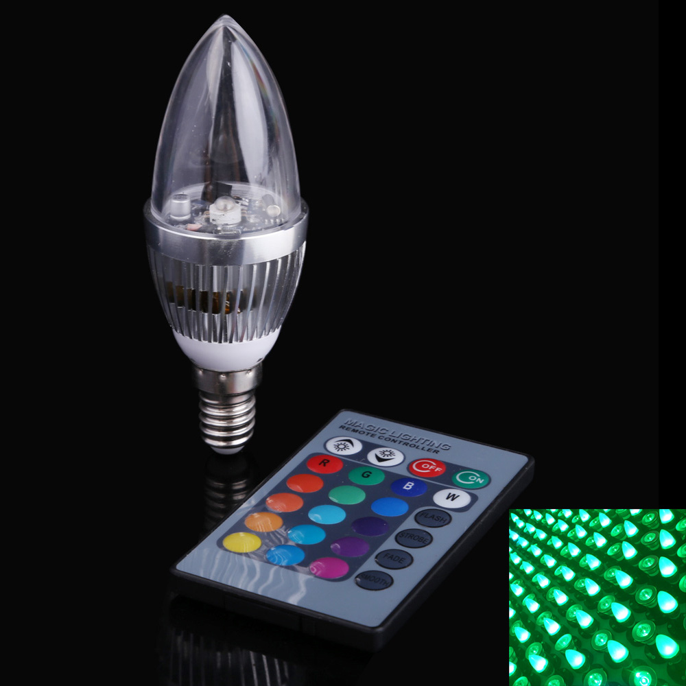 3W RGB Crystal LED Light Bulb Candle Light 16 Colors AC85-265V Home Lighting Decoration Led Lamp with Remote Control enwye e14 led candle energy crystal lamp saving lamp light bulb home lighting decoration led lamp 5w 7w 220v 230v 240v smd2835