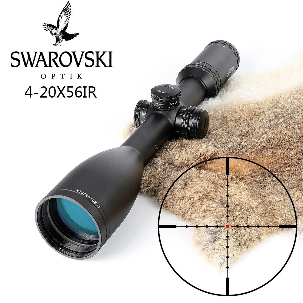 Имитация Swarovskl 4-20x56 SFIR прицелы Mil точка Стекло F40-1 перекрестье Охота прицелы сделано в Китае