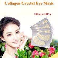 20pcs=10Pairs GoldCrystal Collagen Powder Eye Mask Anti-Agin