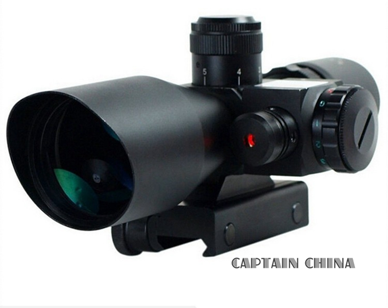 11mm / 20mm 2.5-10x40 Scope Red Laser Holographic Green Red Dot Sight Combo Airsoft Gun Weapon Sight Hunting Chasse Caza hunting holographic tactical 4x30 red green mil dot sight scope w red laser w 11mm 20mm rail mount hunting airsoft chasse caza