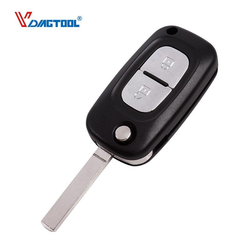 VDIAGTOOL 2 кнопки автомобильный раскладной пульт дистанционного управления, чехол-брелок, Пустая Крышка, подходит для Renault /Clio /Megane /Kangoo Modus, без л...