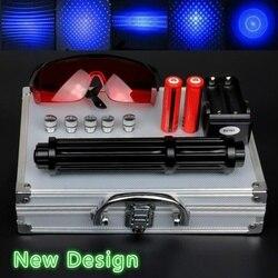 Высокая мощность 2 Вт удлиненные синие лазерные указки 450нм лазерный прицел вспышка светильник горящая спичка/светильник ожога сигары/свеч...