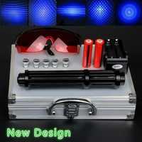 Ad alta Potenza 2 w Allungare Blu Puntatori Laser 450nm Lazer vista Torcia Elettrica Burning Match/Bruciare sigari luce della candela/candela /caccia