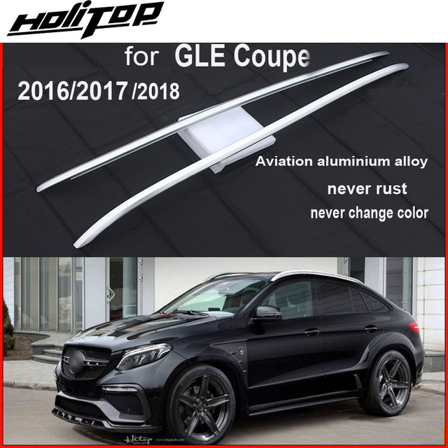 online store aec3a a129d original style roof bars roof rails roof rack for GLE Coupe version,Thicken aluminum  alloy,installed by screws, safe   stable