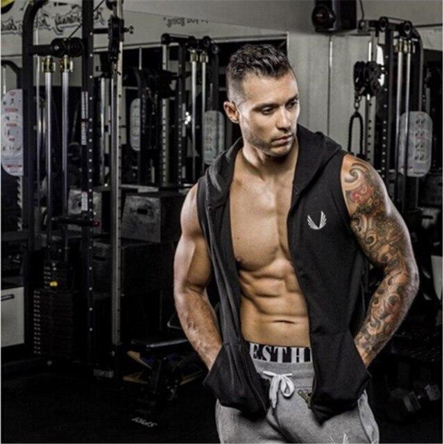 f72a392ca1ecb Men Cotton Hoodie Sweatshirts fitness clothes bodybuilding tank top men  Sleeveless Tees Shirt Casual golds Gymshark