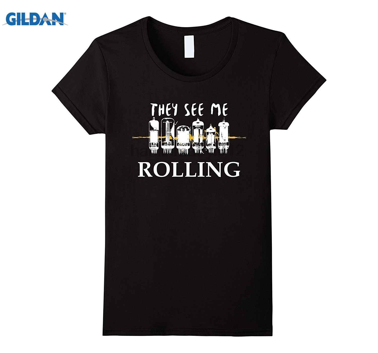 GILDAN Tube Rolling - Audiophile Headphones Amp Hi-Fi T-shirt sunglasses women T-shirt ...