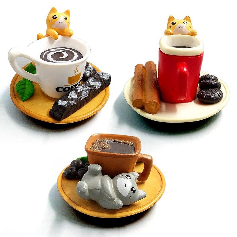 Kawaii Dessert Cat animal model home decor miniature fairy garden decoration accessories modern figurine PVC craft Bonsai toys in Action Toy Figures from Toys Hobbies