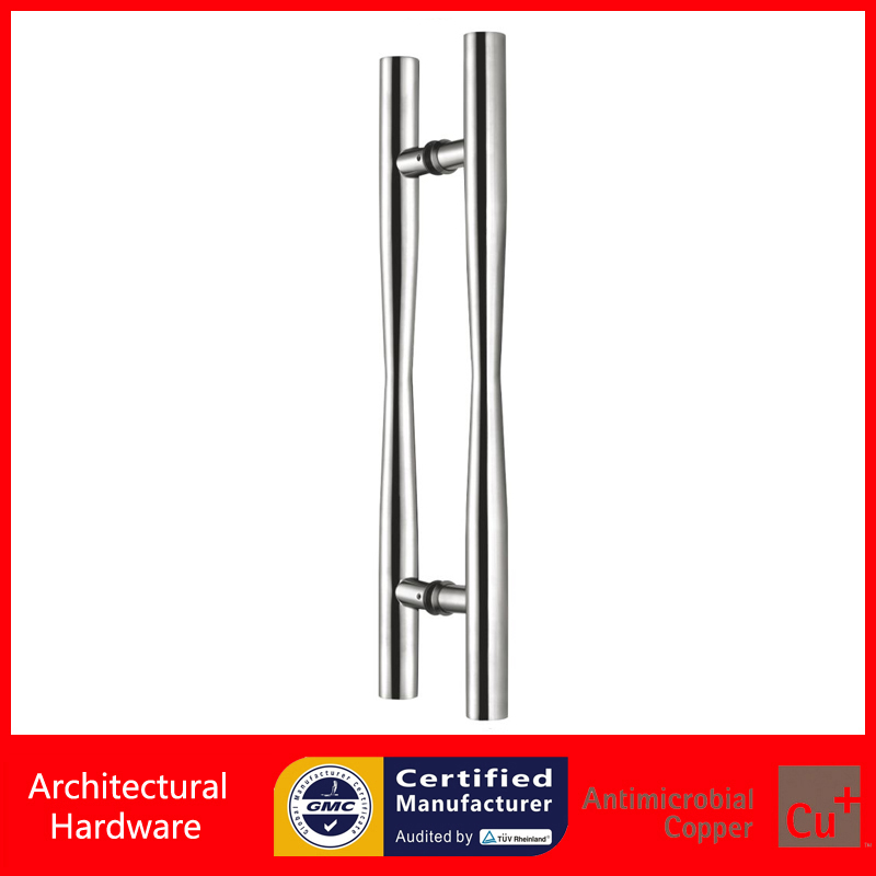 304 Satin Stainless Steel Door Pull Handle For Entrance Gate Wooden/Frame/Glass Doors PA-164-38*600mm antimicrobial black solid nylon offset door pull handle for entrance glass wooden metal frame doors pa 797