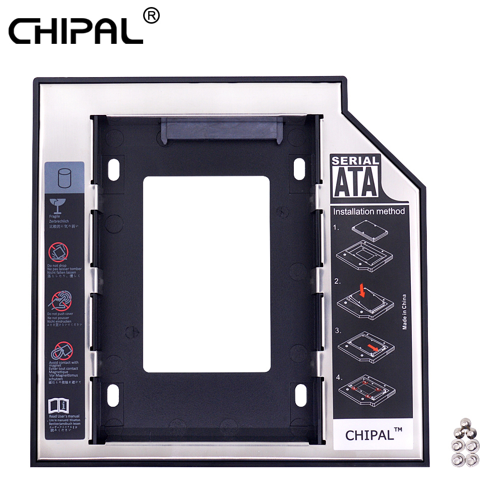 CHIPAL Caddy Hard-Drive-Case-Enclosure Laptop 2nd-Hdd Sata-3.0 SSD Dvd-Rom for CD Optibay