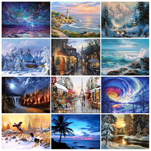 FULL 3D diy diamond painting cross stitch  embroidery mosaic pattern Scenery picture Home decor wall sticker 5d diamond painting cross stitch kits diy diamond embroidery swan of love picture home decor mosaic pattern wall sticker gift