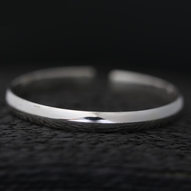 Sterling 990 gioielli in argento fatti a mano lucido solido delle donne di modo del braccialetto (SYF)Sterling 990 gioielli in argento fatti a mano lucido solido delle donne di modo del braccialetto (SYF)
