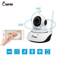 Keeper 720P Главная Безопасность Ip камера Беспроводной камера WIFI Рекордное наблюдение видеоняня HD Мини Ночное видение камера видеонаблюдения