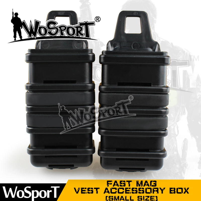 WoSporT FAST MAG Tactical Vest Accessory Box Pouch Outdoor Small Size Many Colors Box For Airsoft Paintball Hunting