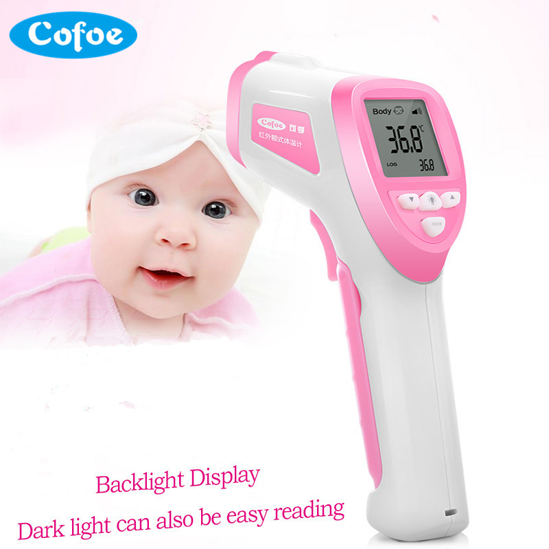 Cofoe Baby Fever Infrared Thermometer Digital LCD Body Temperature Measurement Meter Non-contact IR Monitor Device for Health cofoe thermometer body temperature fever measurement forehead non contact infrared lcd ir digital tool device for baby child